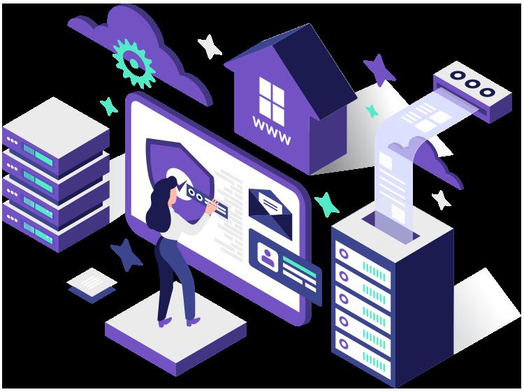 Website hosting illustration